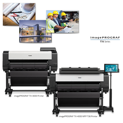 Canon imagePROGRAF TX Series of Large Format Printers