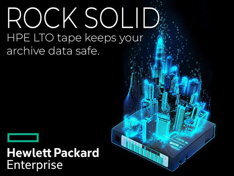 Hewlett Packard Enterprise LTO tapes keep your archive data safe.