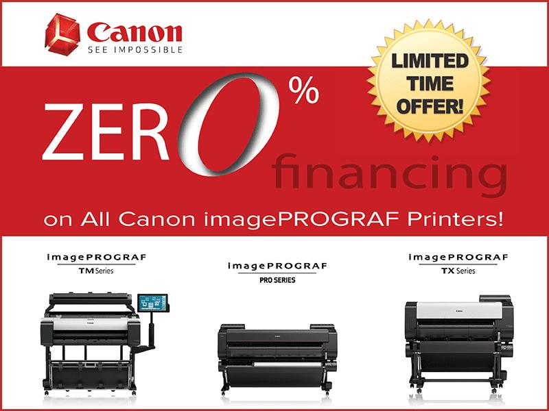 Canon ZERO Percent Financing