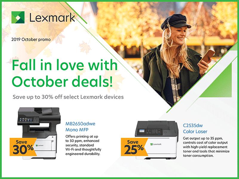 Lexmark October Deals