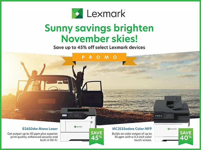 Lexmark November Savings