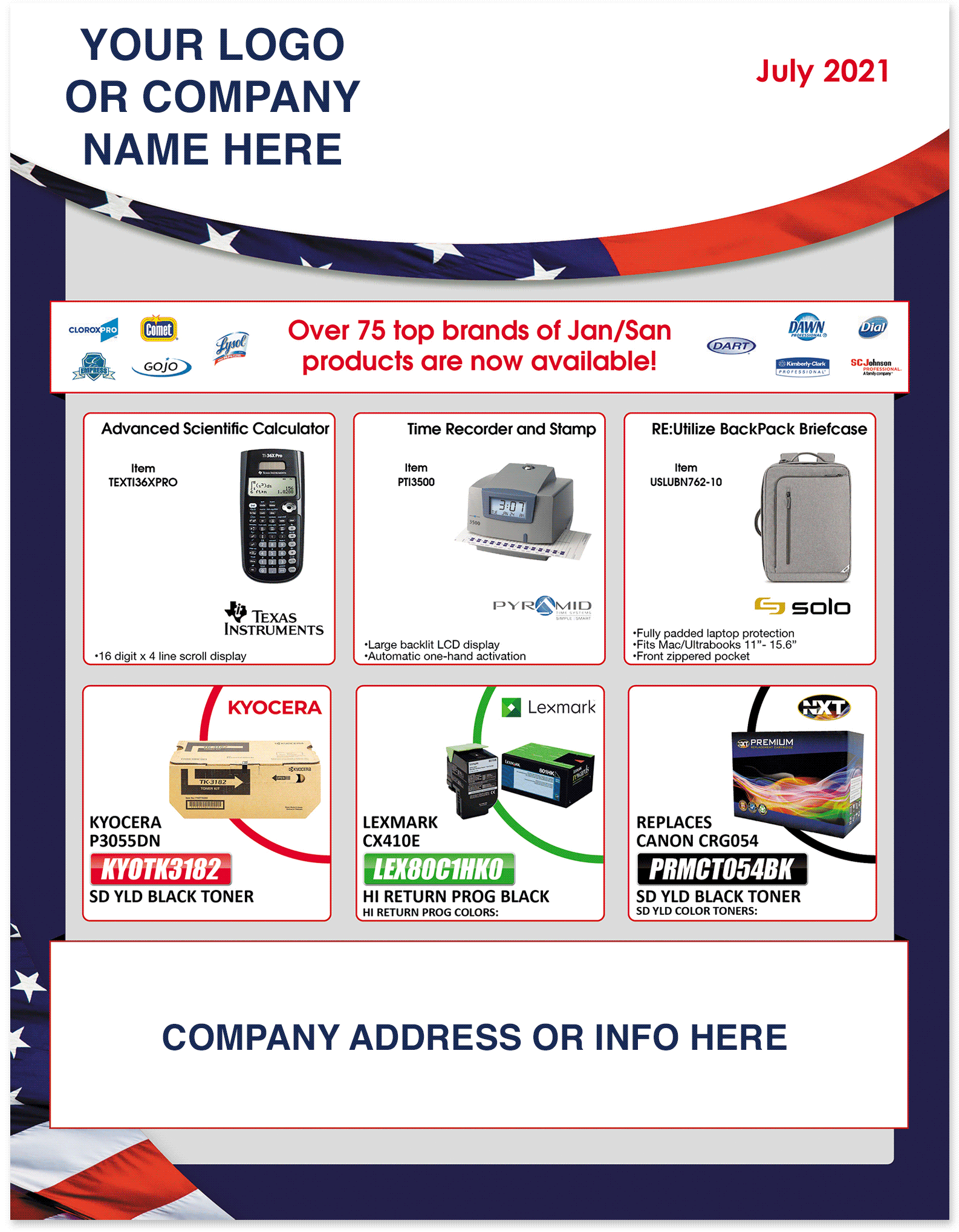 July 2021 Retail Flyer